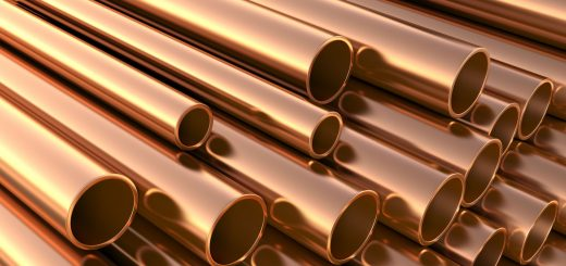 Copper pipes on warehouse. Saghafi Trading Group Inc.